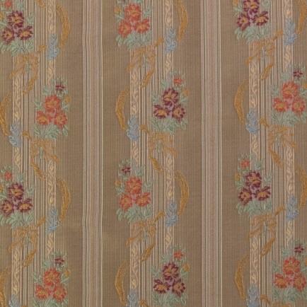 Deko Silk - Floral Stripe -