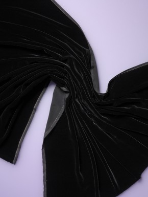 Seidensamt schwarz