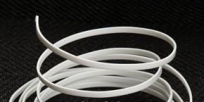 Hutdrahtaus Plastik weiß - 1 x 2mm -